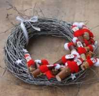 Как сделать рождественский венок из лозы