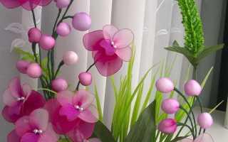 Видеоцветы из капроновых колготок